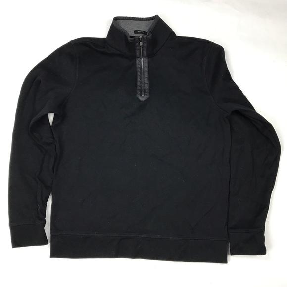 2e53e990a Hugo Boss Sweaters   Regular Fit Black 12 Pullover Zip 48   Poshmark
